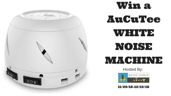 Enter to win in the Sleep Peacefully With AuCuTee White Noise Machine Giveaway before it's too late. Good luck!