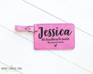 Personalized Vlogger Luggage Tag on Etsy