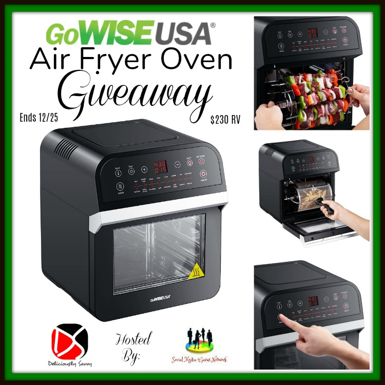 GoWISE USA Air Fryer Oven Giveaway- Ends 12/25