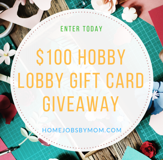 I am so excited about this giveaway. I could totally use a $100 gift card to Hobby Lobby. You do not want to miss out on this one. Enter to win in the Hobby Lobby Gift Card Giveaway before it's too late. Good luck!