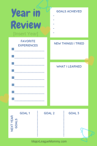 FREE Year in Review Printable