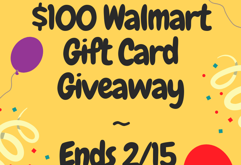 I am  SUPER excited about this giveaway. Enter to win in the $100 Walmart Giveaway before it's too late. Good luck!