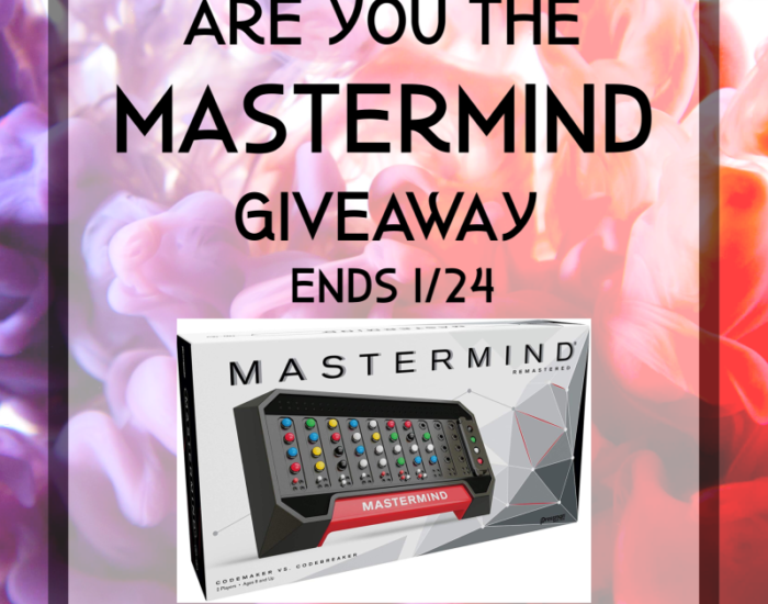 I am back with another fun giveaway for you all! Enter to win in the Are You The Mastermind Giveaway before it's too late. Good luck.