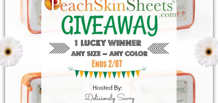 How about a giveaway to kick off the New Year? Enter to win in The Original PeachSkinSheets.com Giveaway before it's too late. Good luck!