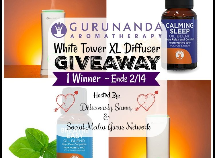 Wind down this Valentine's Day with a bit of aromatherapy. Enter to win in theGuruNanda Aromatherapy White Tower XL Diffuser Giveaway before it's too late. Good luck!