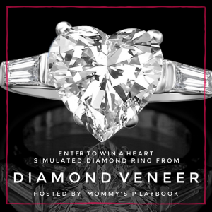 Upgrade your collection of accessories with this absolutely beautiful Simulated Diamond Ring. Enter to win in the Diamond Veneer Heart Simulated Diamond Ring Giveaway. Good luck!