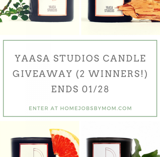 Relax this New Year with a Yaasa Studios Scented Candle. Enter to win in the Yaasa Studios Giveaway before it's too late. Good luck.