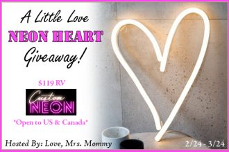 Enter to win in the A Little Love Neon Heart Giveaway