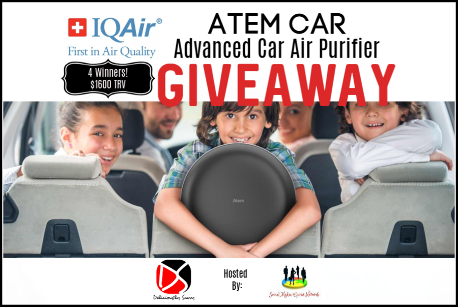 This one is perfect for us Mommas, especially those of us who have carpooling duties. Enter to win in the #IQAir Atem Car Advanced Car Air Purifier Giveaway before it's too late. Good luck!