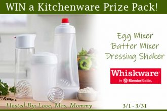 Hey, Mommas! This is a giveaway you will definitely not want to miss. Enter to win in the Whiskware Kitchenware Prize Pack Giveaway before it's too late. Good luck!