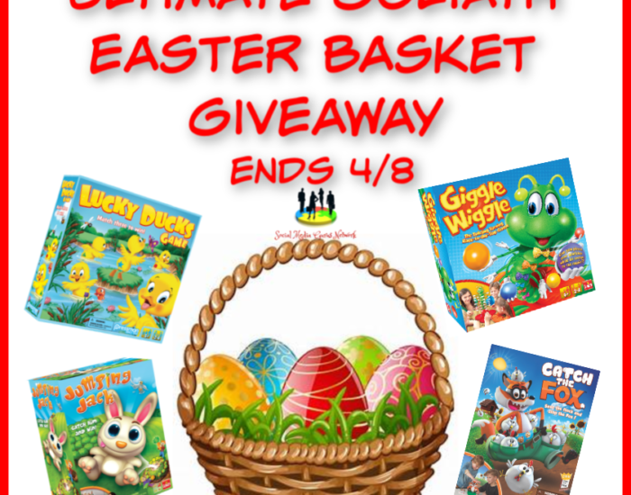 You will definitely want to hop on this opportunity just in time for Easter. Enter to win in the Ultimate Goliath Easter Basket Giveaway before it's too late. Good luck!