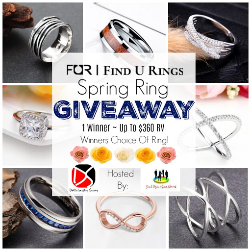 Enter to win in the Find U Rings Spring Ring Giveaway before it's too late. Good luck!