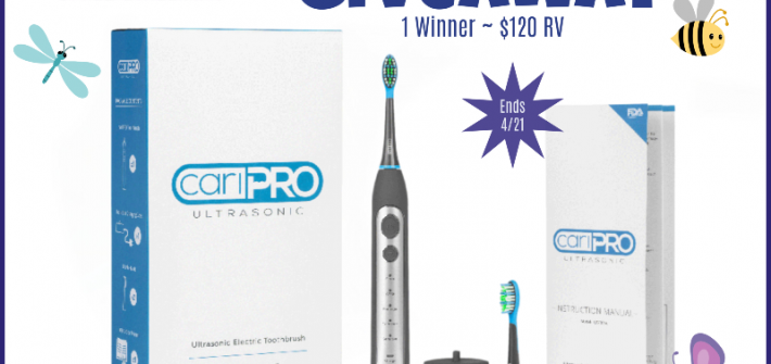 Upgrade your toothbrush in this awesome giveaway. Enter to win in the cariPRO Ultrasonic Electric Toothbrush Giveaway before it's too late. Good luck!