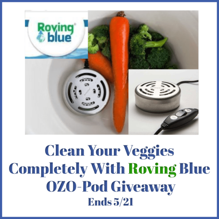 CLOSED~Clean Your Veggies Completely With Roving Blue – Ends 5/21