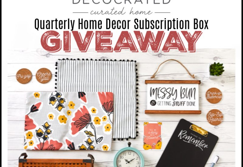 This subscription box is a dream for us who don't have the time (or energy) to update our home decor as often as we would like to. Enter to win in the Decocrated Quarterly Home Decor Subscription Box Giveaway before it's too late. Good luck!