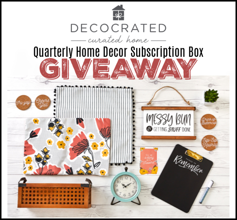 CLOSED~Decocrated Quarterly Home Decor Subscription Box Giveaway- Ends 6/9