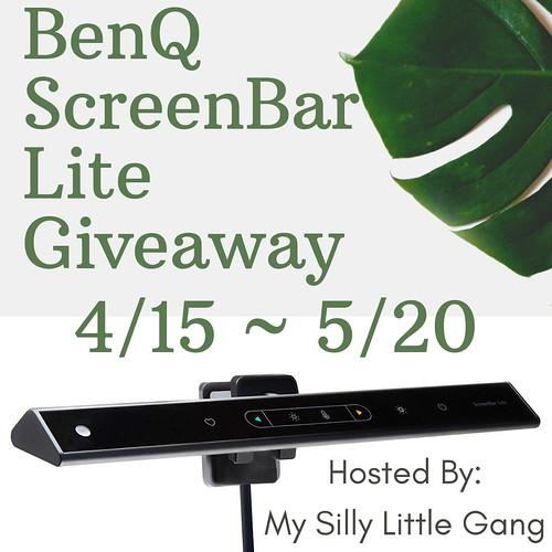 It'sssss giveaway time! Enter to win in the BenQ ScreenBar Lite Giveaway before it's too late. Good luck!