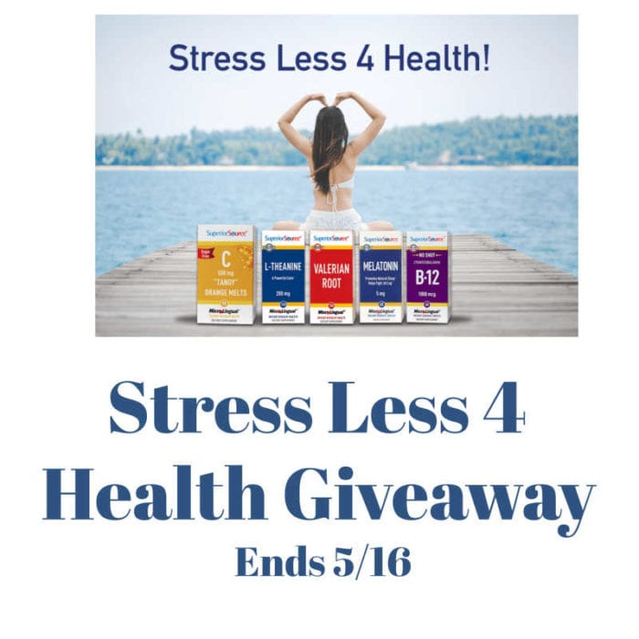 CLOSED~Stress Less 4 Health Giveaway- Ends 5/16