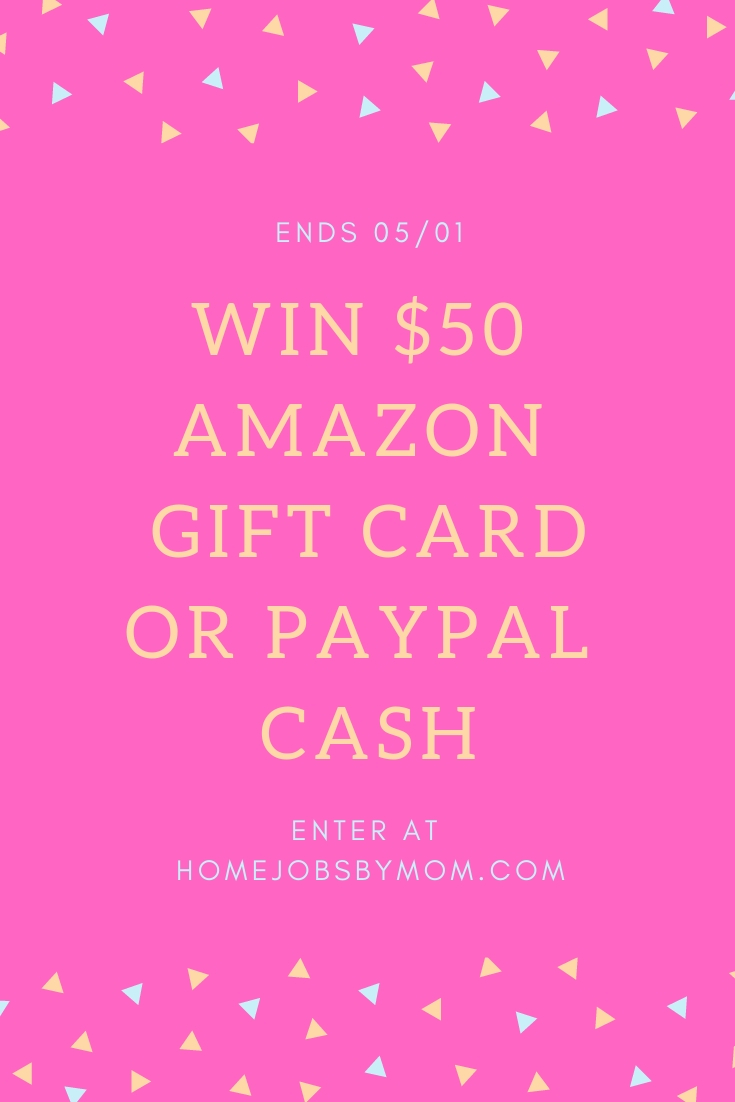 We could all use a little extra cash, right? You definitely do not want to miss out on this giveaway. Enter to win in the $50 Amazon/Paypal Giveaway before it's too late. Good luck!