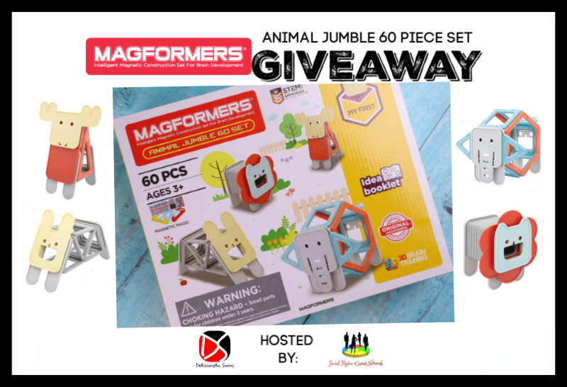 Here is a fun giveaway that you will not want to miss! Enter to win in the Magformers NEW Animal Jumble 60 Piece Set Giveaway. Good luck!
