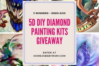 This one is for all my crafty families out there. Enter to win in the Getting Crafty with Diamond Paintings before it's too late. Good luck!