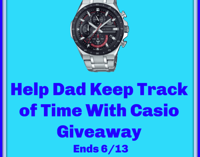 Enter to win in the Help Dad Keep Track of Time With Casio Giveaway before it's too late. Good luck!