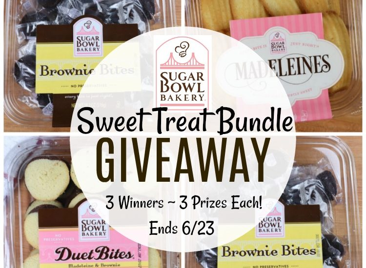I have the perfect giveaway to satisfy that sweet tooth. Enter to win in the Sugar Bowl Bakery Sweet Treat Bundle Giveaway before it's too late. Good luck!