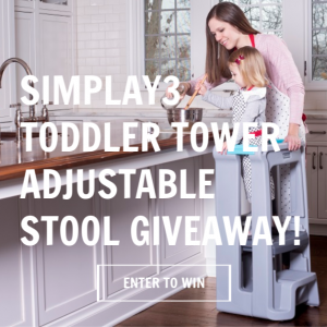The little ones love to feel included. Giving them a boost helps them to get a close-up on all the action, and this Toddler Tower will help them to do just that. Enter to win in the Simplay3 Giveaway before it's too late. Good luck.