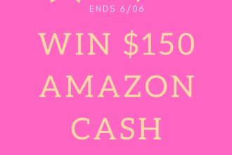 Enter to win in the $150 Amazon Cash Giveaway before it's too late. Good luck!