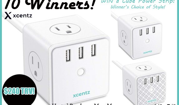 Supercharge your summer with a Cube Power Strip! Enter to win in the Xcentz Cube Power Strip Giveaway w/ USB Ports! before it's too late. Good luck!