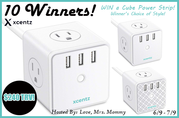 CLOSED~10 Winners! Xcentz Cube Power Strip Giveaway! $240 TRV!- Ends 7/9