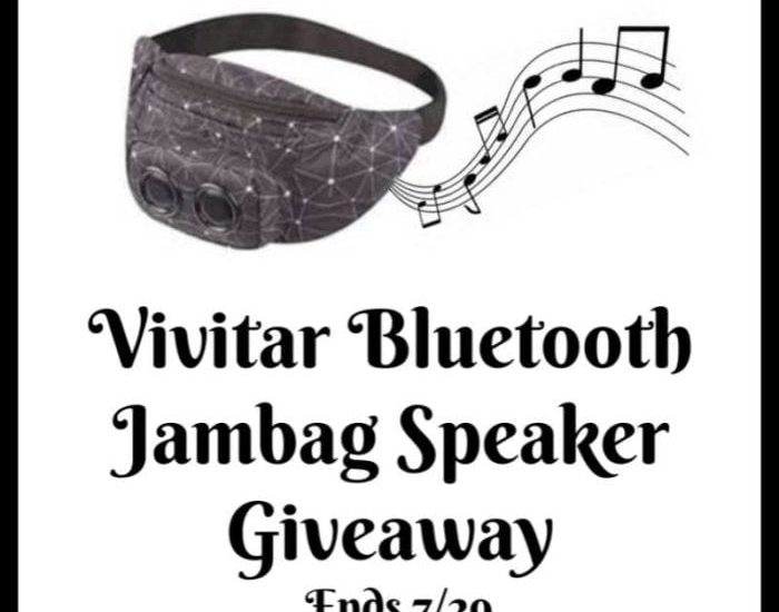 Don't miss out! Enter to win in the Vivitar Bluetooth Jambag Speaker Giveaway before it's too late. Good luck!