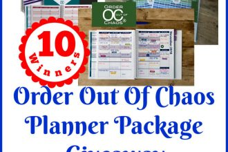 Enter to win in the Order Out Of Chaos Planner Package Giveaway before it's too late. Good luck!