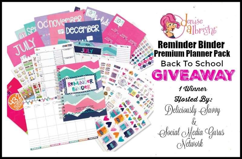 CLOSED~Reminder Binder Premium Planner Pack Back To School Giveaway- Ends 8/21