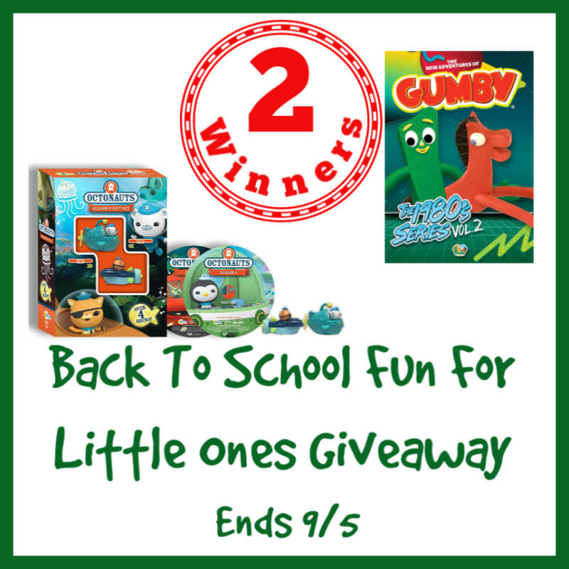 CLOSED~Back To School Fun For Little Ones Giveaway- Ends 9/5