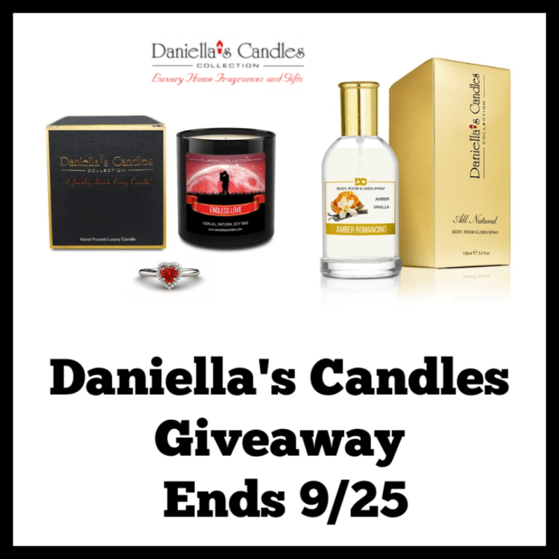Hey, Mommas! It's time to treat yourself. Enter to win in the Daniellas Candles Giveaway before it's too late. Good luck.
