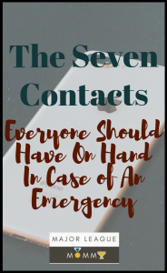 The Seven Contacts Everyone Should Have On Hand In Case of An Emergency