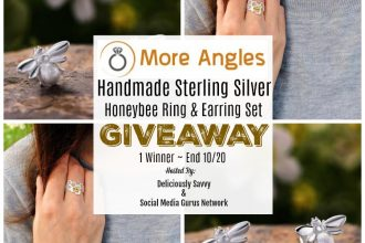 Enter to win in the More Angles Handmade Sterling Silver Honeybee Ring & Earring Set Giveaway before it's too late. Good luck!