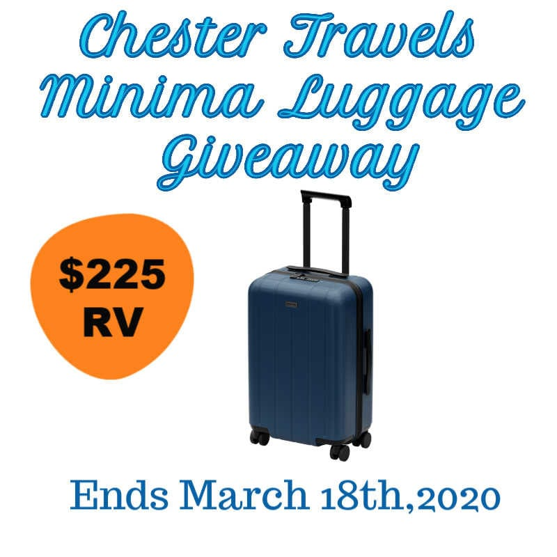 Chester Travels Minima Luggage Giveaway-Ends 3/18