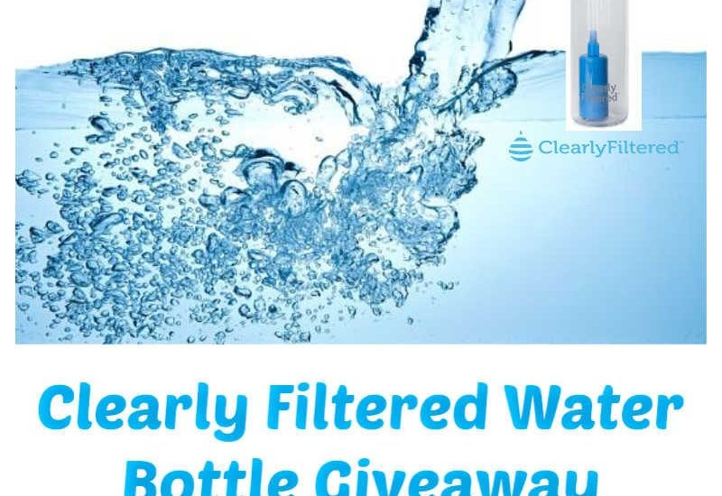 Enter to win in the Clearly Filtered Water Bottle Giveaway before it's too late. Good luck!