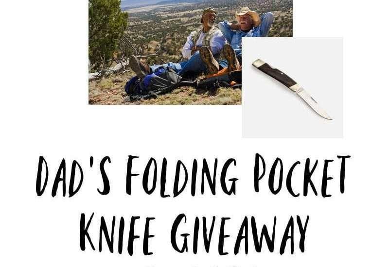 Dads Folding Pocket Knife Giveaway