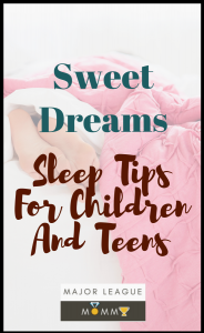 Sleep tips for children and teens