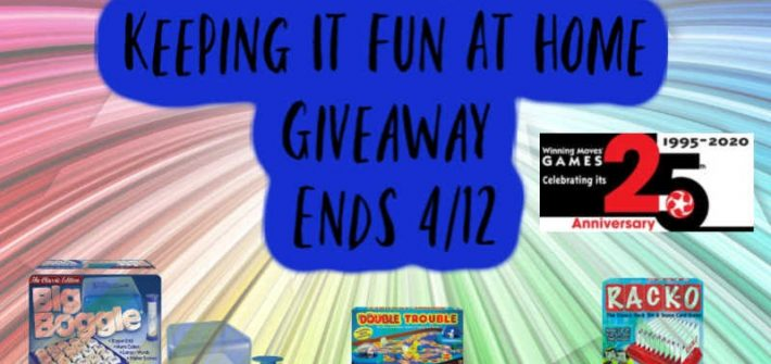 Keeping It Fun At Home Giveaway Ends 4/12