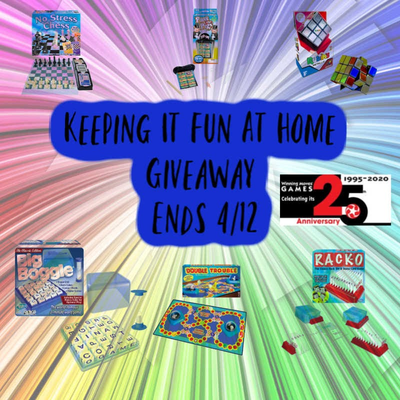Keeping It Fun At Home Giveaway-Ends 4/12
