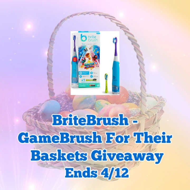BriteBrush – GameBrush For Their Baskets Giveaway-Ends 4/12