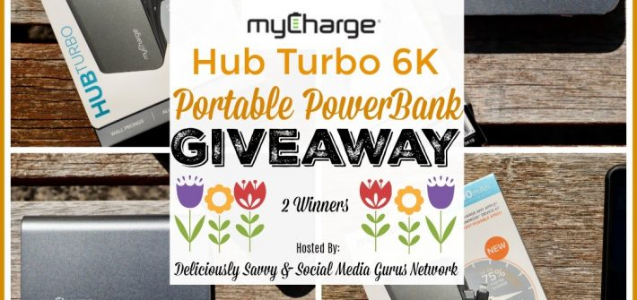 Here's your chance to win one for yourself! Enter to win in the myCharge Hub Turbo 6K Portable PowerBank Giveaway before it's too late. Good luck!
