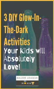 DIY glow in the dark activities