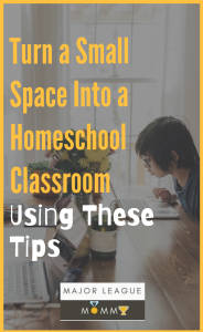 Working with a small space for your homeschool classroom? Make sure you check out these tips!