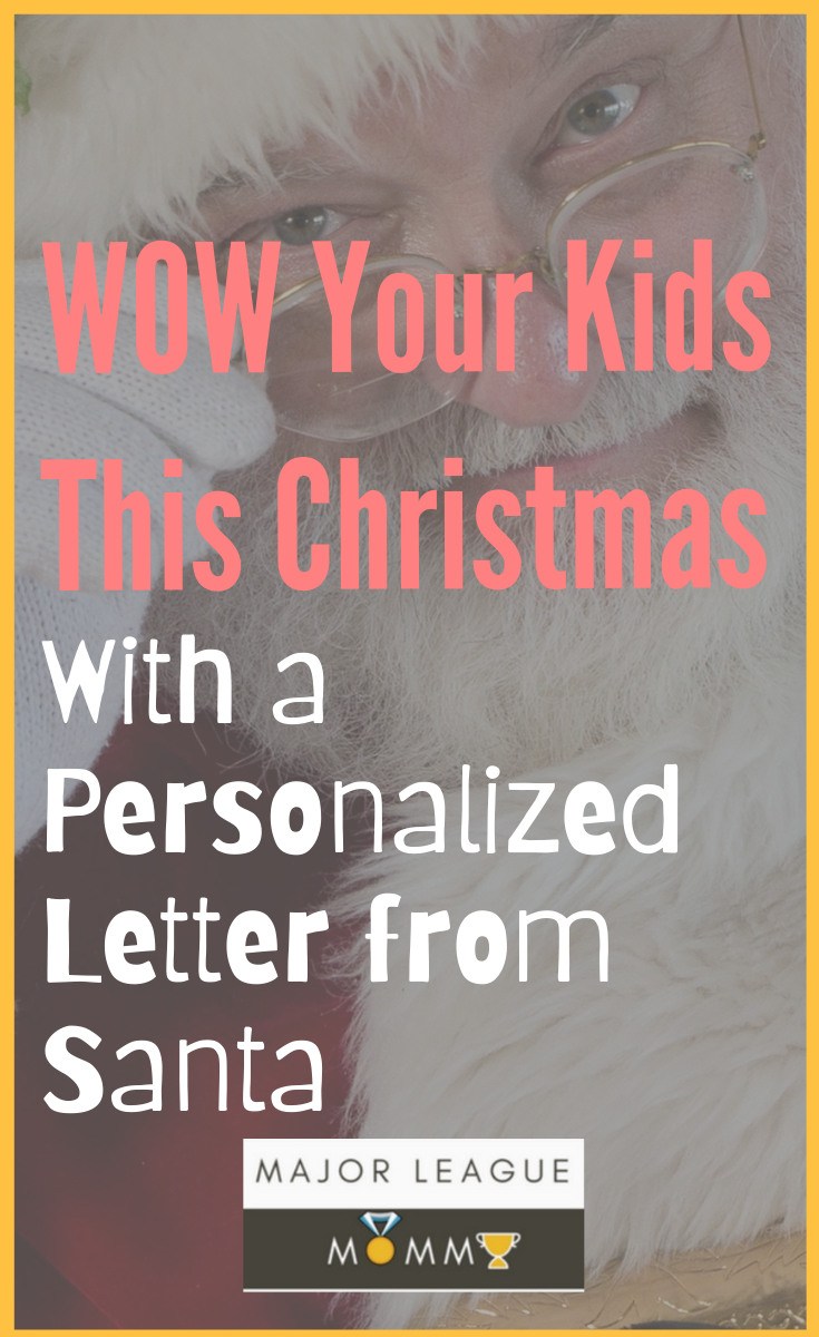 Your kids will absolutely love this personalized letter from santa package!