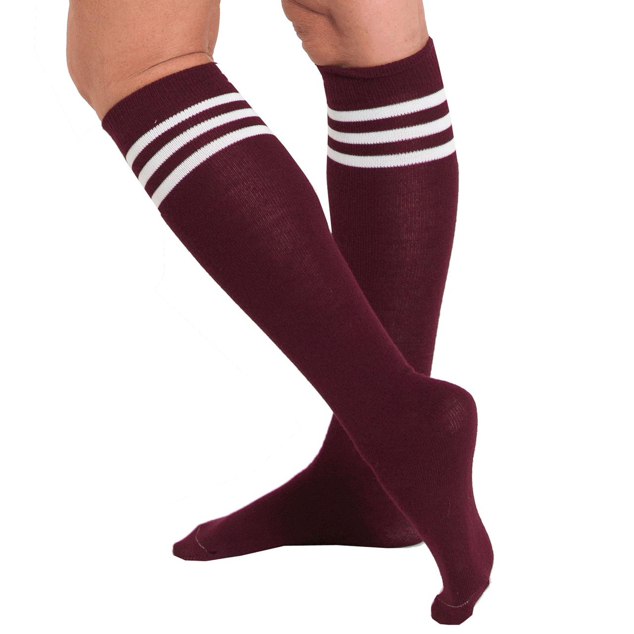 Maroon tube socks